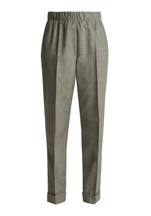Tailored wool and mohair blend trousers