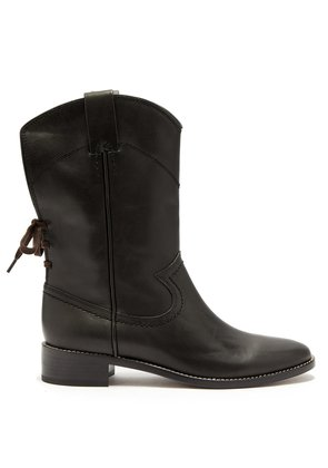 Western leather boots