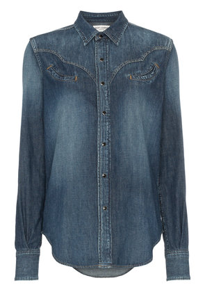 Saint Laurent western denim shirt - Blue