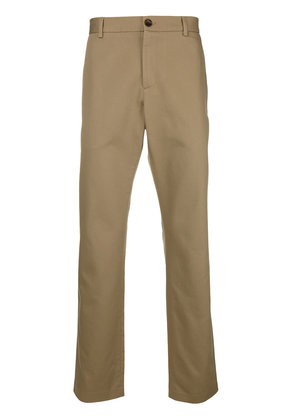 Gucci embroidered logo chinos - Nude & Neutrals