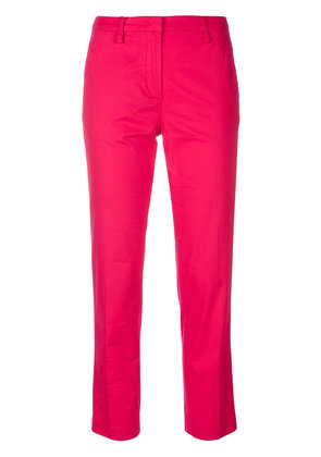Emporio Armani straight-leg cropped trousers - Pink & Purple