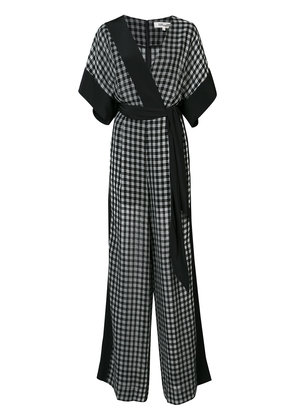 Dvf Diane Von Furstenberg windowpane jumpsuit - Black