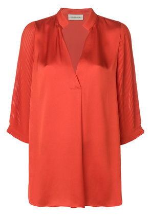 By Malene Birger pleated sleeve blouse - Yellow