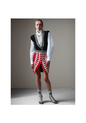 Burberry Wool Ceremonial Skirt, Size: 02, Red