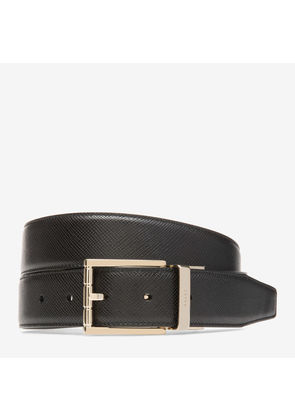 Bally Astor Black, Men's leather adjustable/reversible belt in black