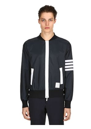ZIP-UP LIGHTWEIGHT NYLON BOMBER JACKET