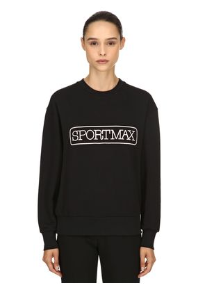 LOGO PRINTED COTTON BLEND SWEATSHIRT