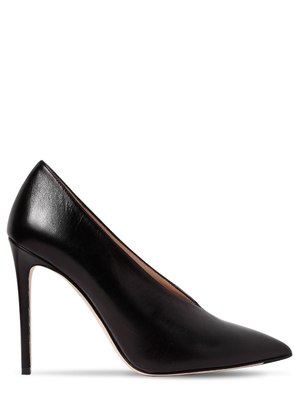 100MM MILA LEATHER PUMPS