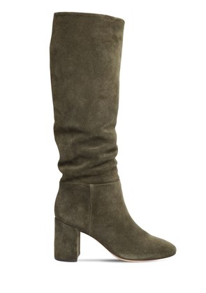 75MM BROOKE SUEDE SLOUCHY BOOTS
