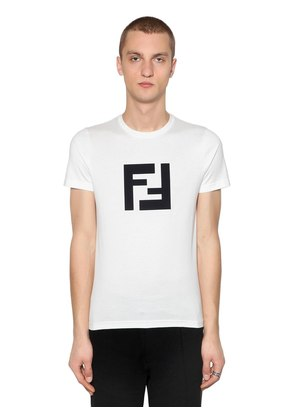 SLIM FF RUBBERIZED PRINT JERSEY T-SHIRT