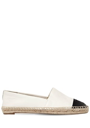 20MM TWO TONE LEATHER ESPADRILLES