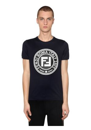 SLIM RUBBER LOGO PATCH JERSEY T-SHIRT