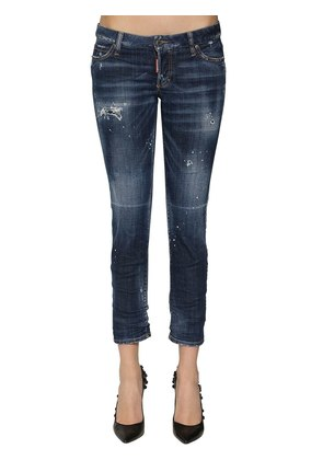 JENNIFER CROPPED DESTROYED SKINNY JEANS