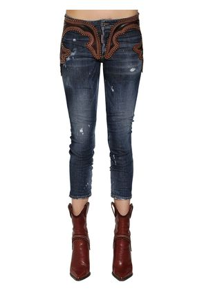 COOL GIRL LEATHER & DENIM JEANS