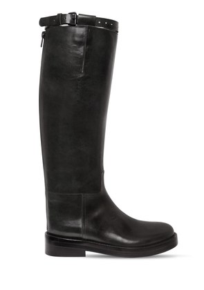 30MM BRUSHED LEATHER RIDING BOOTS