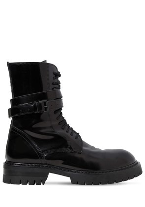 30MM POLISHED LEATHER COMBAT BOOTS