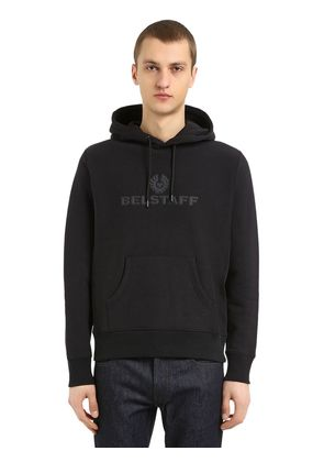 LOGO PATCHES COTTON SWEATSHIRT HOODIE