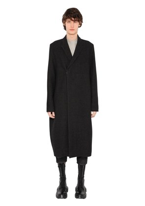 WOOL & LINEN BLEND LONG COAT