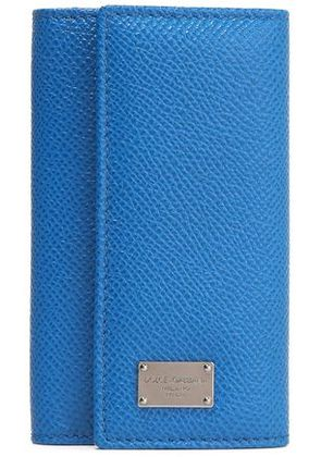 Dolce & Gabbana Woman Textured-leather Key Holder Blue Size -