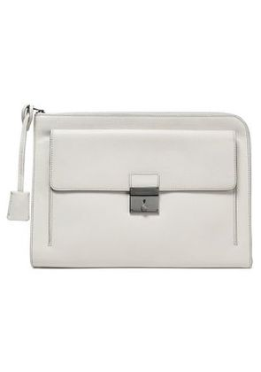 Dolce & Gabbana Woman Textured-leather Laptop Case Ivory Size -