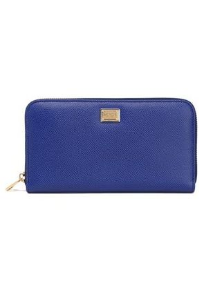 Dolce & Gabbana Woman Textured-leather Wallet Royal Blue Size -