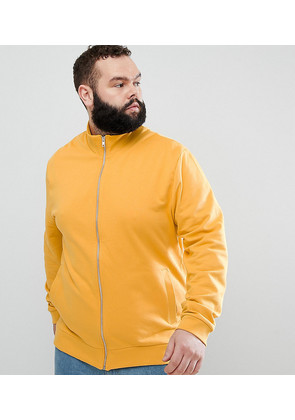 ASOS DESIGN Plus Jersey Track Jacket In Yellow - Coleman