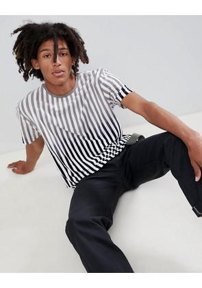 ASOS DESIGN relaxed t-shirt with bleach stripe - White