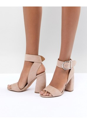 ASOS DESIGN Hold Tight Heeled Sandals - Nude