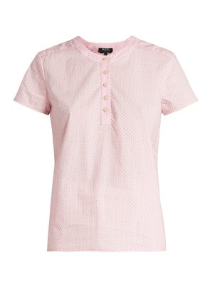 Philippine short-sleeved cotton blouse
