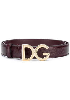 Dolce & Gabbana DG logo belt - Red
