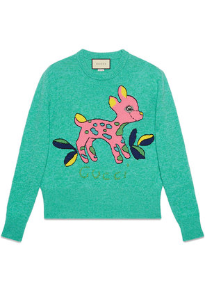 Gucci Wool sweater with fawn - Blue