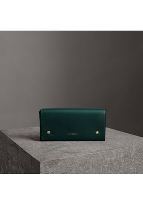 Burberry Two-tone Leather Continental Wallet, Green