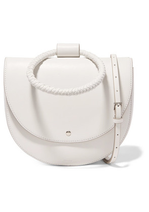 Theory - Whitney Leather Shoulder Bag - White