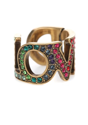 Love crystal-embellished ring