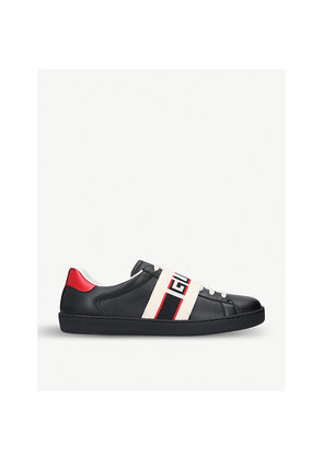 New Ace stripe leather trainers