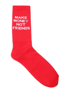 LOGO INTARSIA COTTON BLEND KNIT SOCKS