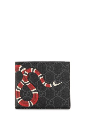 SNAKE PRINTED GG SUPREME CANVAS WALLET