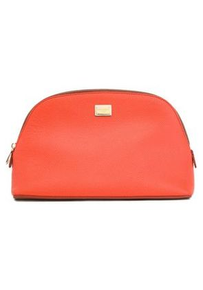 Dolce & Gabbana Woman Two-tone Textured-leather Cosmetics Case Coral Size -