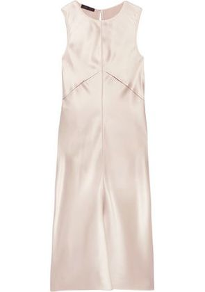 Calvin Klein Collection Woman Lamica Tulle-trimmed Silk-satin Dress Blush Size 48