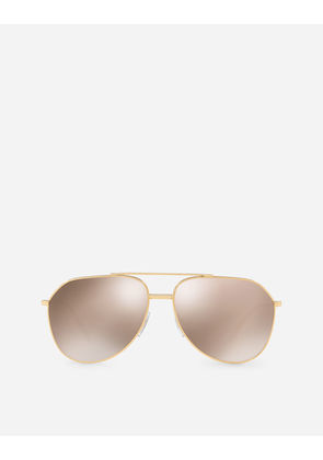 Dolce & Gabbana Sunglasses - AVIATOR SUNGLASSES IN GOLD-PLATED METAL GOLD PLATED