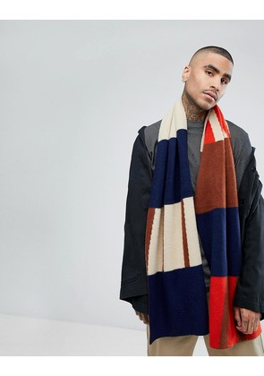 ASOS Scarf In Navy Abstract Design - Navy