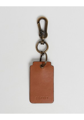 Esprit Leather Key Ring In Brown - 230 camel