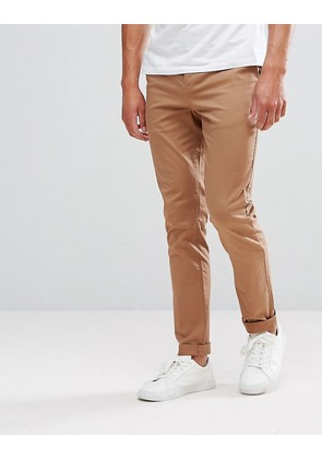 ASOS Skinny Chinos In Camel - Toasted coconut