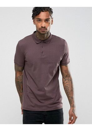 ASOS Jersey Polo - Dusted truffle