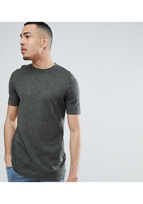 ASOS DESIGN Tall Knitted T-Shirt In Khaki Twist - Khaki
