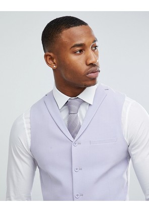 ASOS Wedding Super Skinny Fit Suit Waistcoat In Lilac - Lilac
