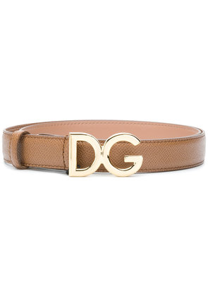 Dolce & Gabbana logo buckle belt - Brown