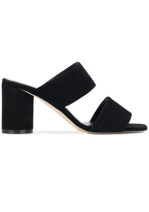 Aeyde double strap mules - Black