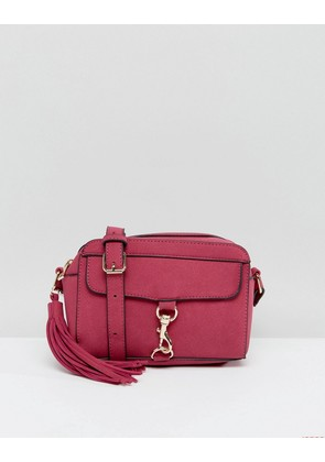 Yoki Across Body Bag With Buckle Front Detail - Pink