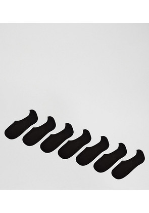 ASOS Invisible Socks In Black 7 Pack - Multi
